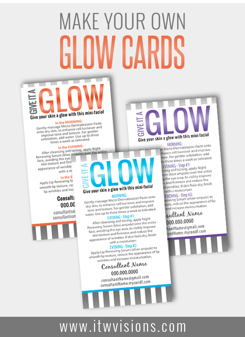 Customize Your Own Mini Facial Glow Cards At Itwvisions. Rodan - Rodan And Fields Mini Facial Instructions Printable Free