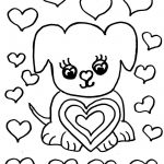 Cute Dog Valentine's Day Coloring Page - Free Printable - Free Printable Valentines Day Coloring Pages
