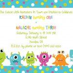 Cute Little Monster Birthday Invitation Printable | Free   Free Printable Monster Templates