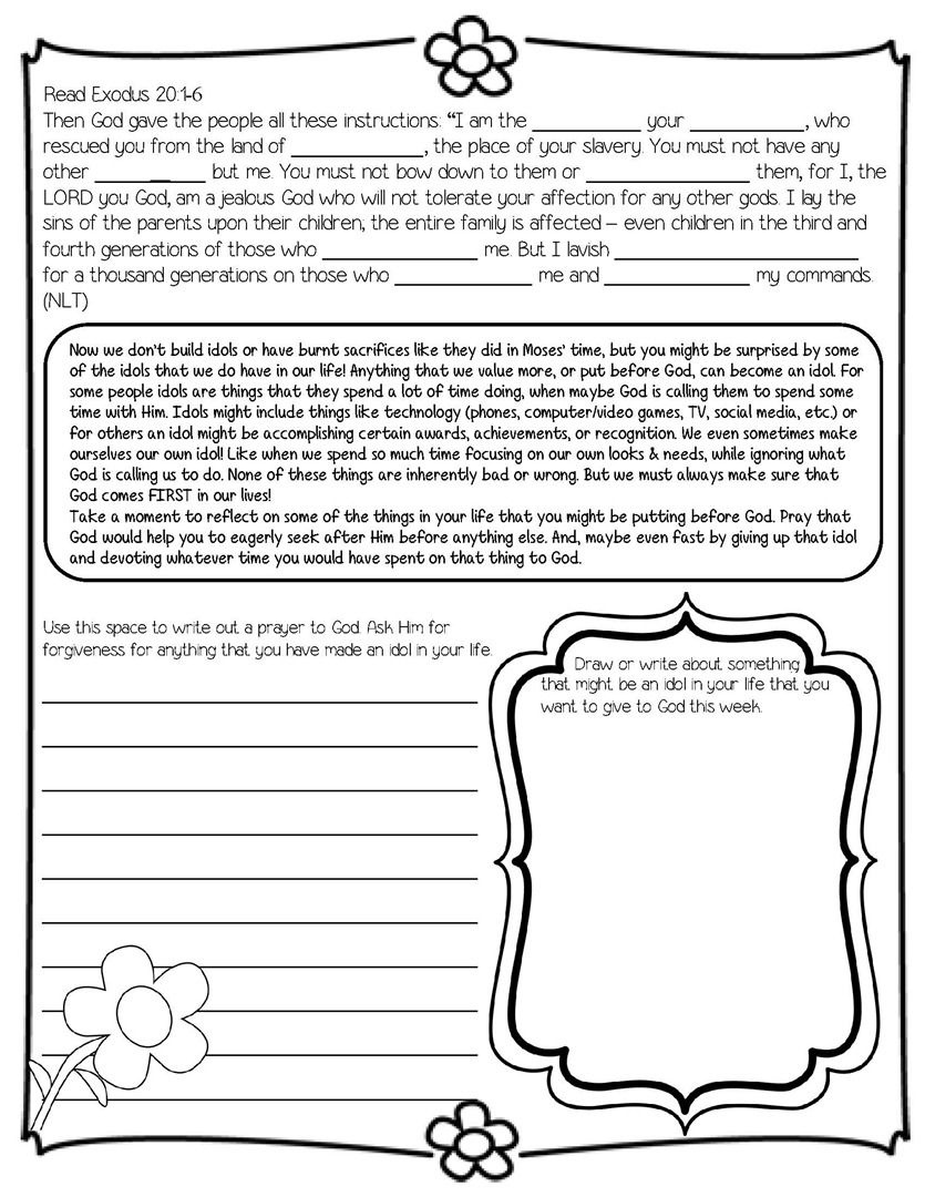 Daily Devotional On The Ten Commandments (Ideal For 4Th - 8Th Grade - Free Catholic Ten Commandments Printable