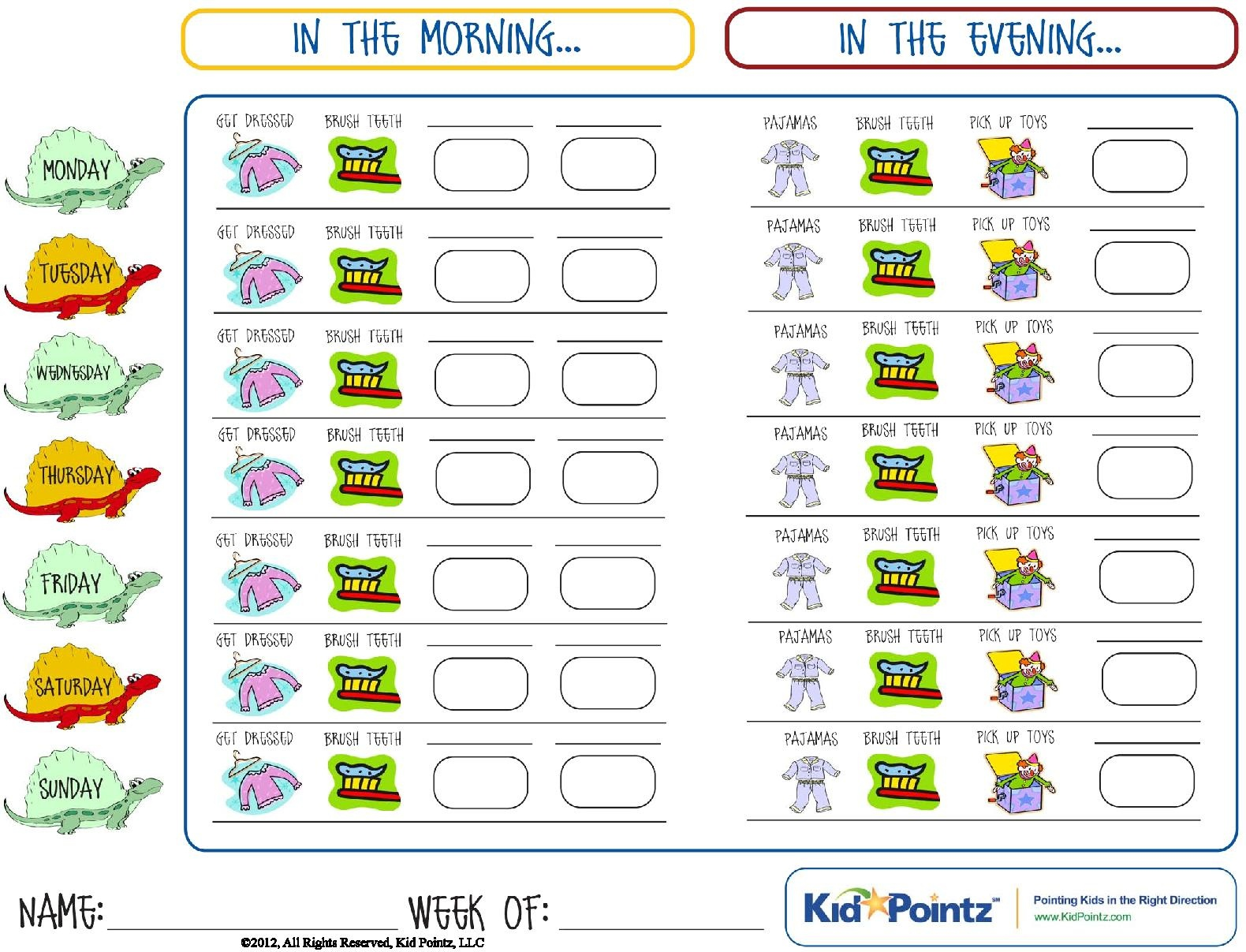 Daily Routine Charts For Kids Collection (25 Pages) | Personal Hygiene - Children's Routine Charts Free Printable