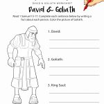 David And Goliath Worksheet & Coloring Page | Noah Ark Ideas | Bible   Free Printable Bible Stories For Youth