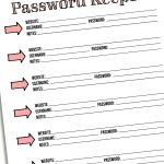 Day 6: Password Keeper   I Heart Planners   Free Printable Password Keeper