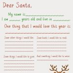 Dear Santa Letter (Free Printable) : The Chirping Moms | Holidays   Free Printable Christmas Letters From Santa