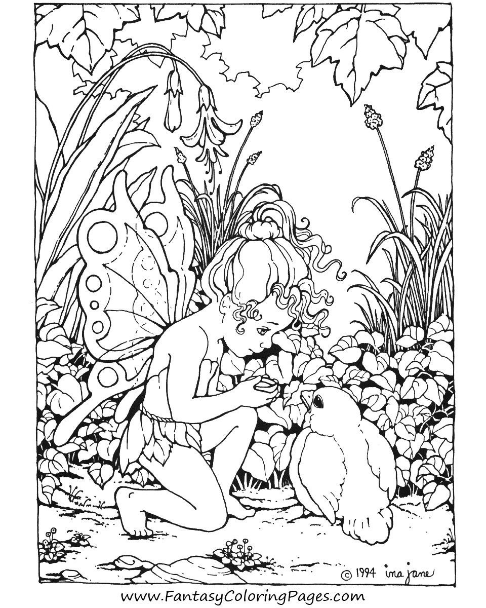Detailed Fairy Coloring Pages For Adults | Coloring Pages For Me - Free Printable Coloring Pages Fairies Adults