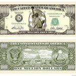 Details About (50) Traditional Million Dollar Bills   Fun Novelty   Free Printable Million Dollar Bill