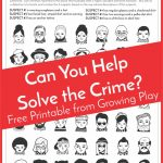 Detective Puzzle For Kids   Free Printable   Growing Play   Free Printable Detective Games