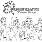 Disney Descendants Coloring Pages Free Best Of Ben And Mal Page   Free Printable Descendants Coloring Pages
