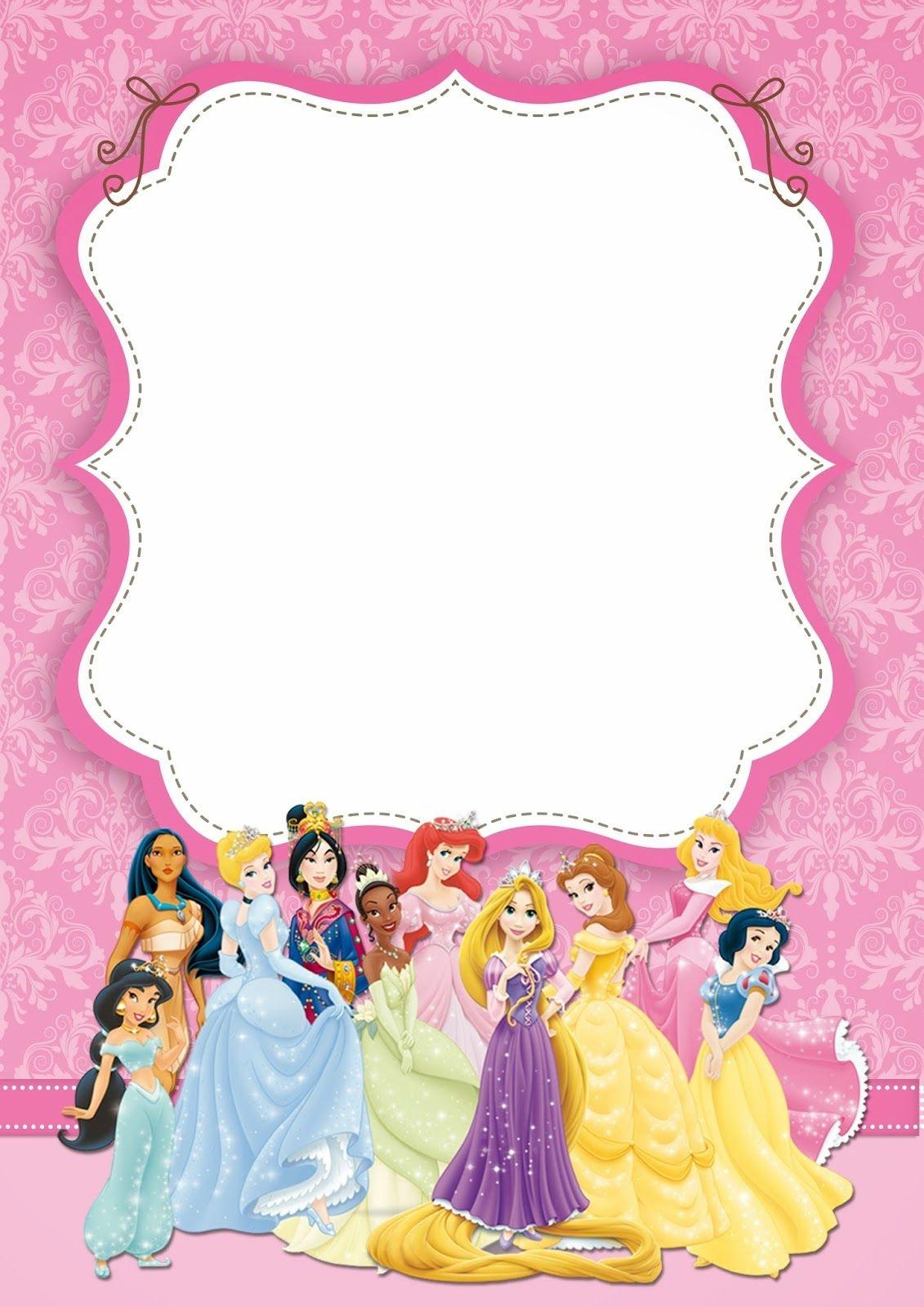 Disney Princess: Free Printable Party Invitations. | Princess - Disney Princess Free Printable Invitations