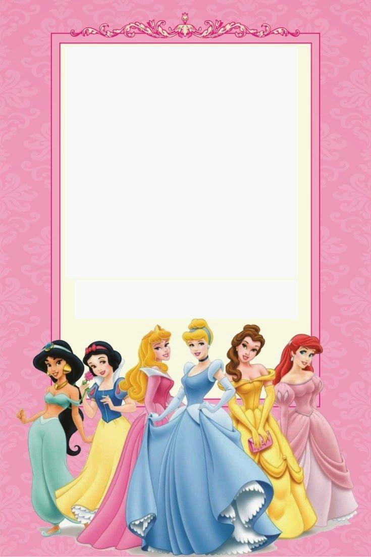 Disney Princess Party: Free Printable Mini Kit. | Free Printables - Free Printable Princess Invitation Cards