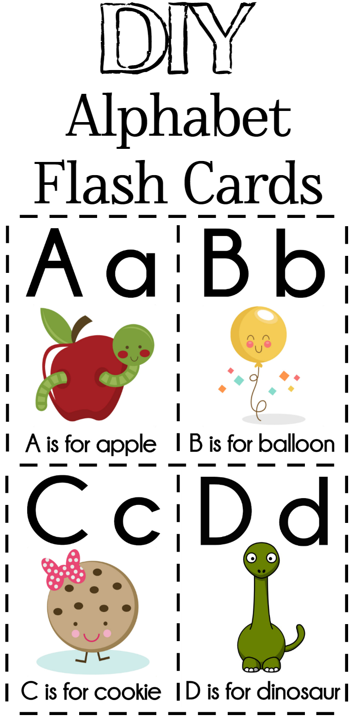 Diy Alphabet Flash Cards Free Printable - Extreme Couponing Mom - Free Printable Abc Flashcards With Pictures