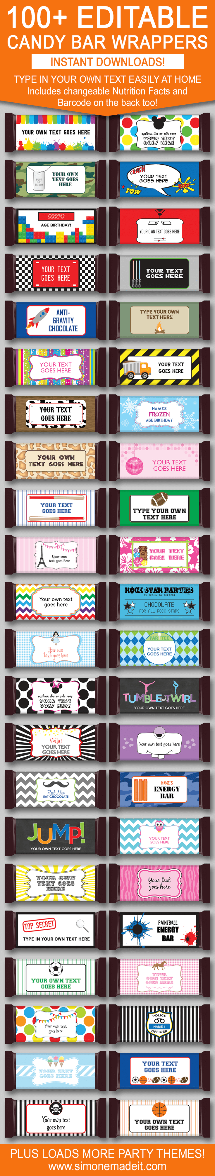 Diy Candy Bar Wrapper Templates – Personalized Candy Bars | Candy - Free Printable Hershey Bar Wrappers