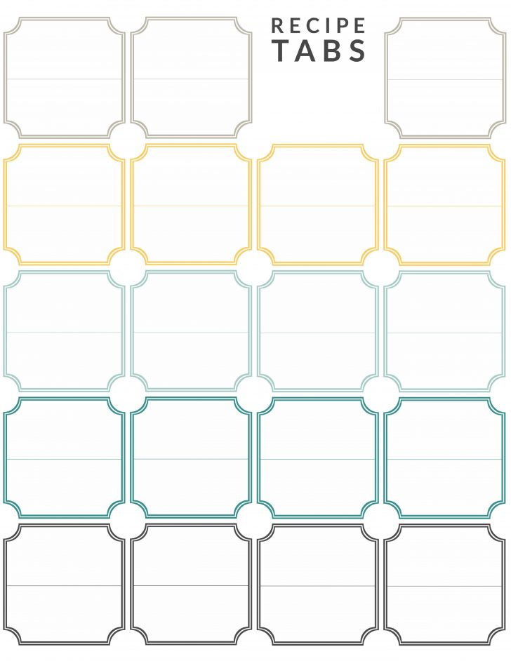Free Printable Tabs For Binders