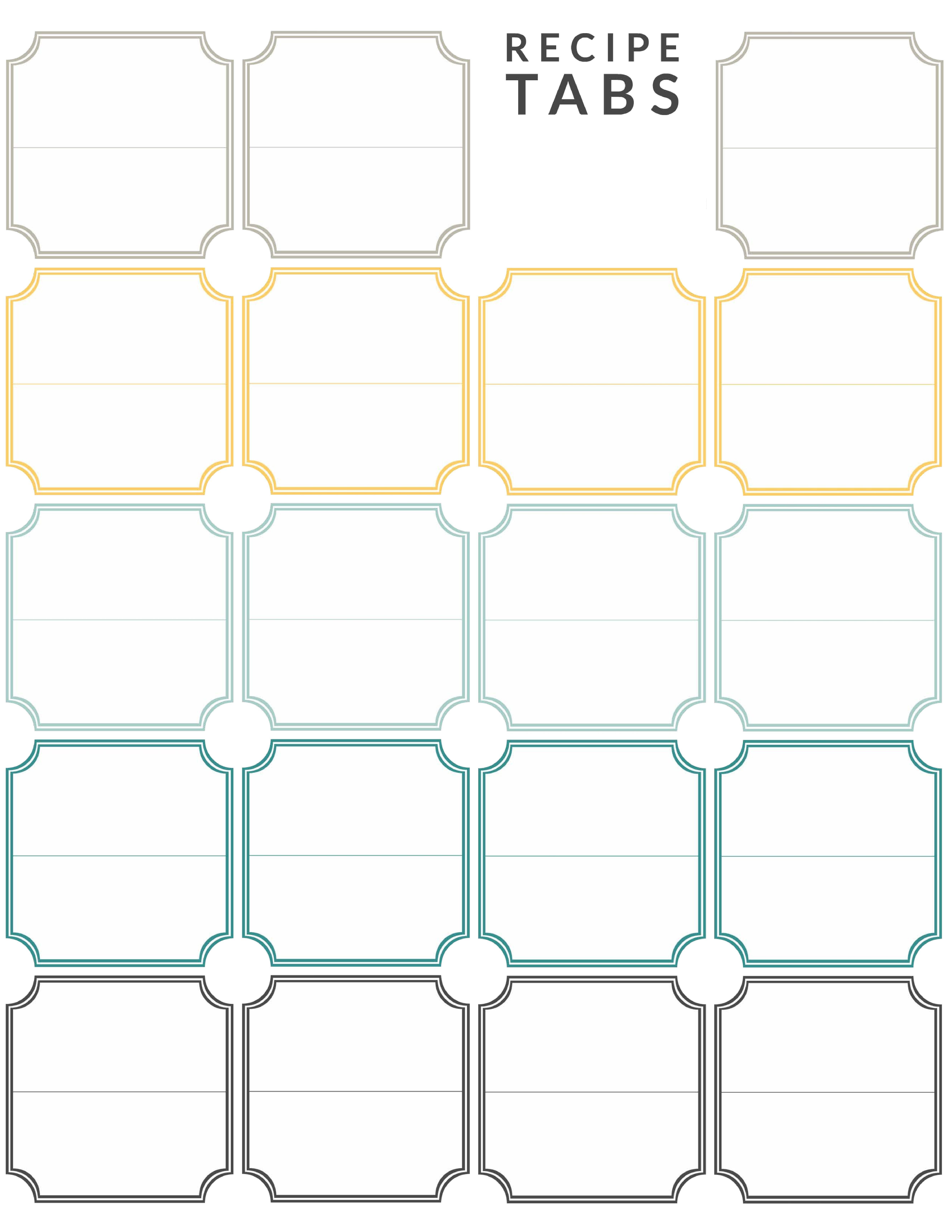 Diy Recipe Binder (With Free Printable Downloads) - Free Printable Tabs For Binders