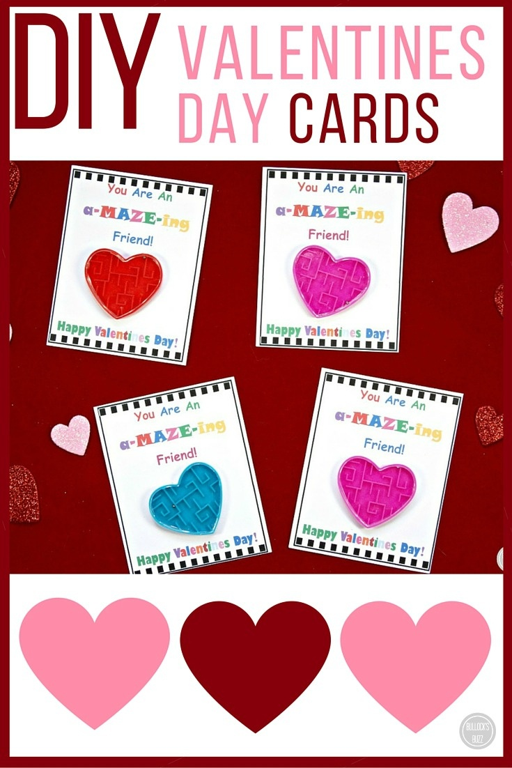 Diy Valentine's Day Cards For Kids With Free Printable! - Bullock's Buzz - Free Printable Valentines Day Cards Kids