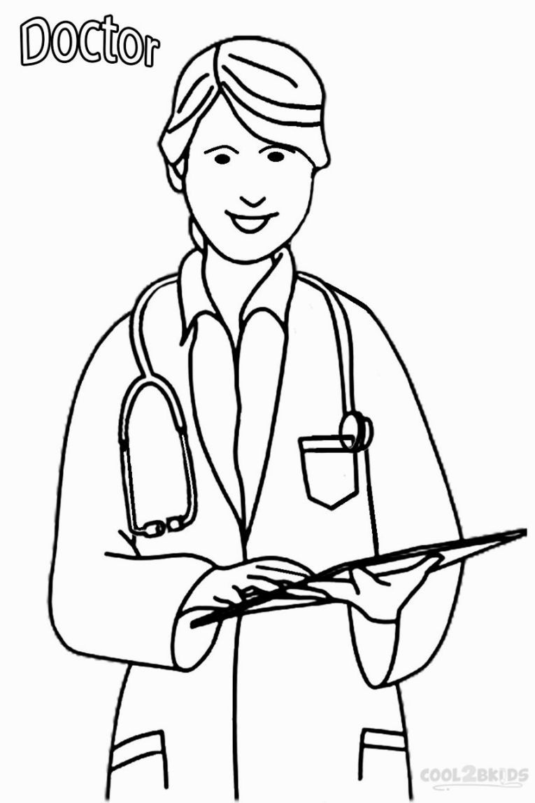 Doctor Coloring Sheets | Coloring Pages | Community Helpers - Doctor Coloring Pages Free Printable