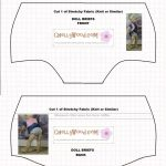 Doll Underwear Pattern (Briefs) To Fit 18 Inch Dolls Like American   Free Printable Doll Clothes Patterns For 18 Inch Dolls