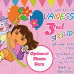 Dora The Explorer Birthday Invitation $11 | Kids Birthday   Dora Birthday Cards Free Printable