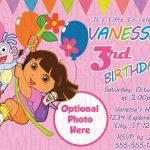 Dora The Explorer Birthday Invitation $11 | Kids Birthday   Dora Birthday Cards Free Printable