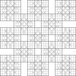 Double Harakiri Sudoku X – Free Printable Samurai Sudoku