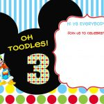 Download Free Printable Mickey Mouse Birthday Invitations | Bagvania   Free Printable Mickey Mouse Invitations