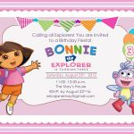 Download Free Template Dora The Explorer Birthday Party Invitations   Dora Birthday Cards Free Printable