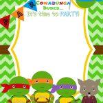 Download Now Free Printable Ninja Turtle Birthday Party Invitations   Free Printable Ninja Turtle Birthday Banner