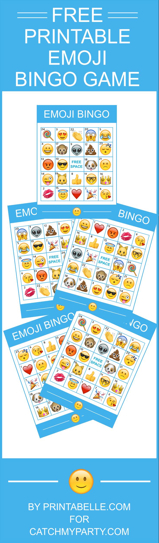 Download This Free Fantastic Printable Emoji Bingo Game! | Catch My - Free Emoji Bingo Printable