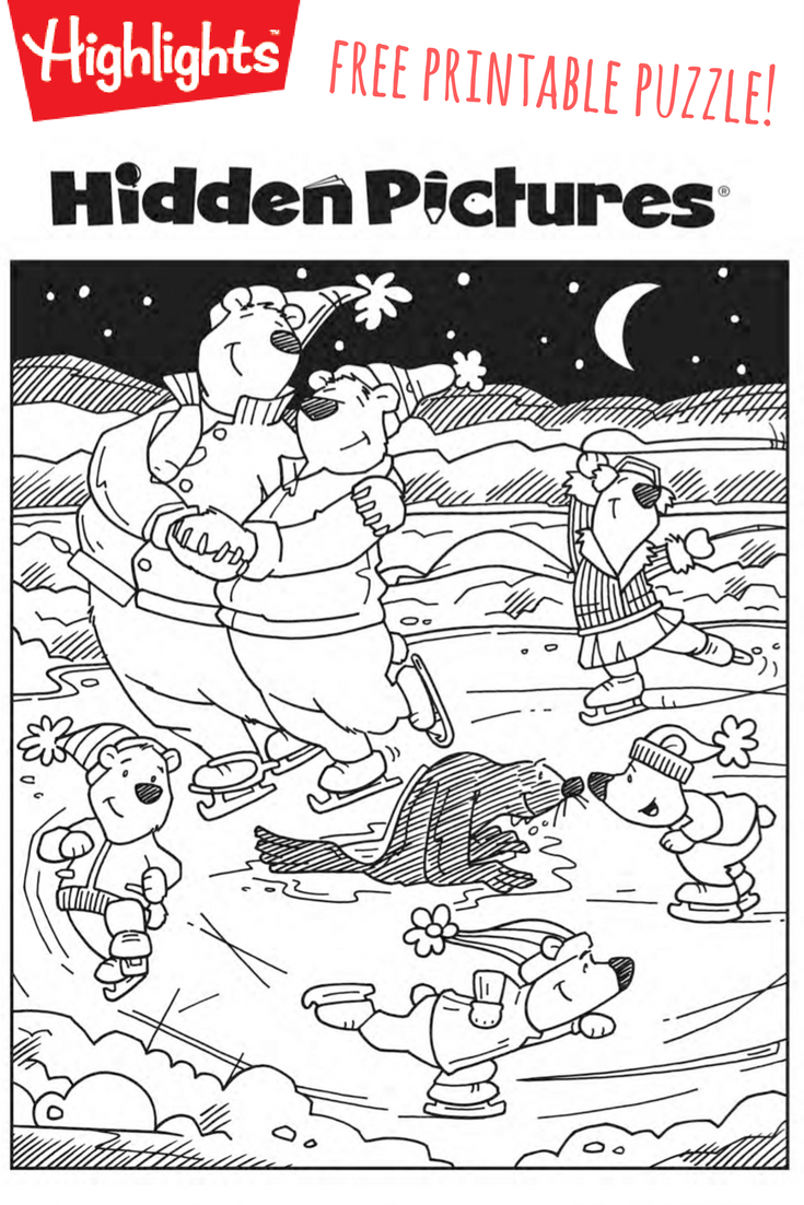 Download This Free Printable Winter Hidden Pictures Puzzle To Share - Free Printable Valentine Hidden Pictures