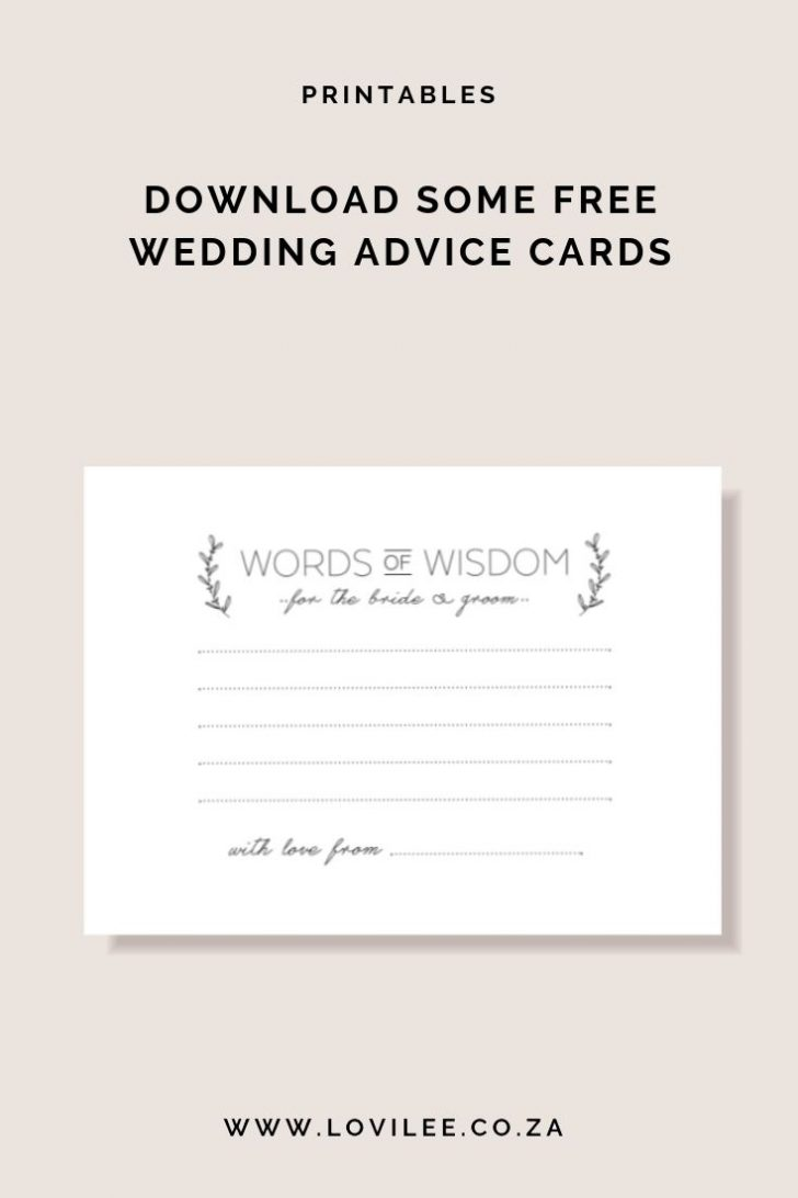 Free Printable Bridal Shower Cards