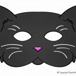 Early Play Templates: 5 Printable Halloween Cat Masks To Make | Nine   Free Printable Halloween Face Masks