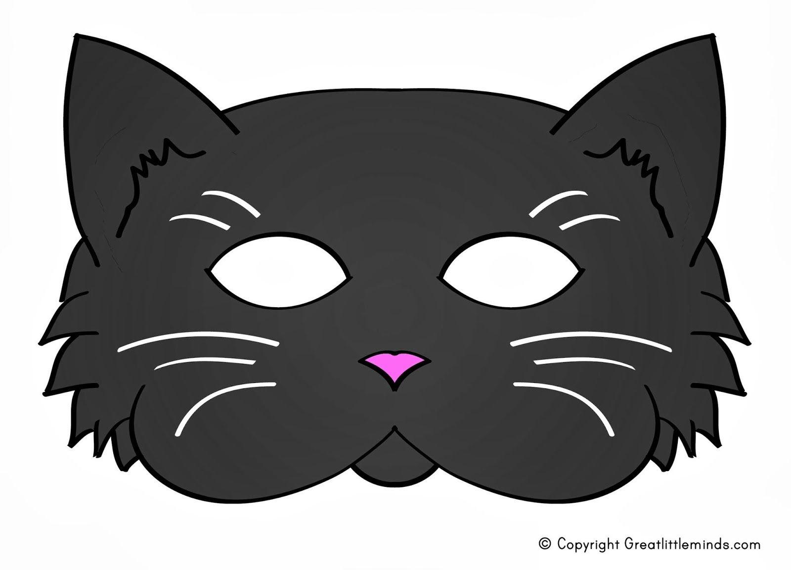 Early Play Templates: 5 Printable Halloween Cat Masks To Make | Nine - Free Printable Halloween Face Masks