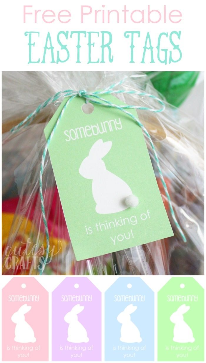 Easter Basket For Mom With Printable Easter Tags - Cutesy Crafts - Free Printable Easter Basket Name Tags