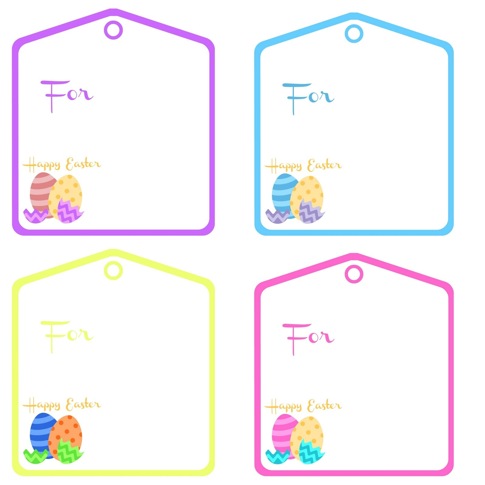 Easter Basket Tags – Happy Easter & Thanksgiving 2018 - Free Printable Easter Basket Name Tags