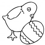 Easter Chick With Egg Coloring Page | Free Printable Coloring Pages   Free Printable Easter Baby Chick Coloring Pages