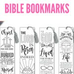 Easter Coloring In Bible Bookmarks   Bible Journaling   Printable   Free Printable Religious Easter Bookmarks