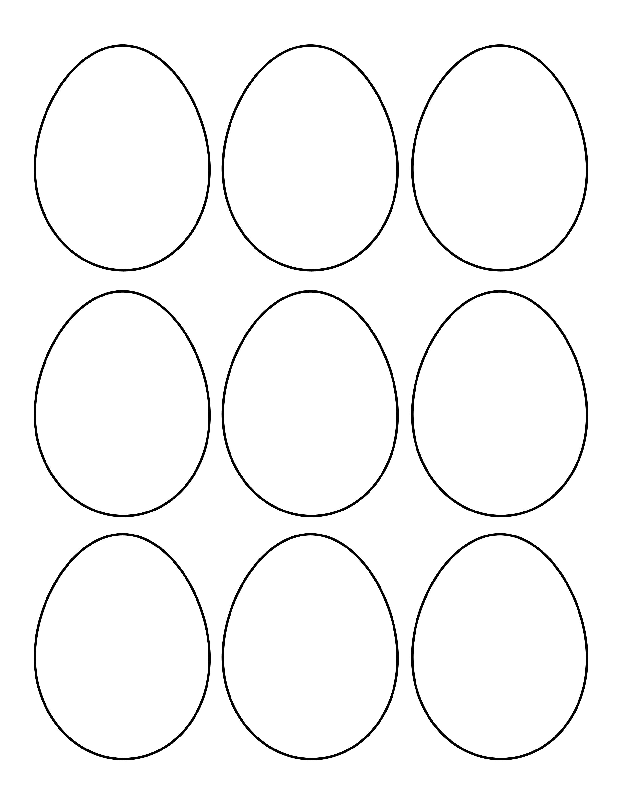 Easter Egg Shapes Templates | Easter | Easter Egg Template, Easter - Easter Egg Template Free Printable