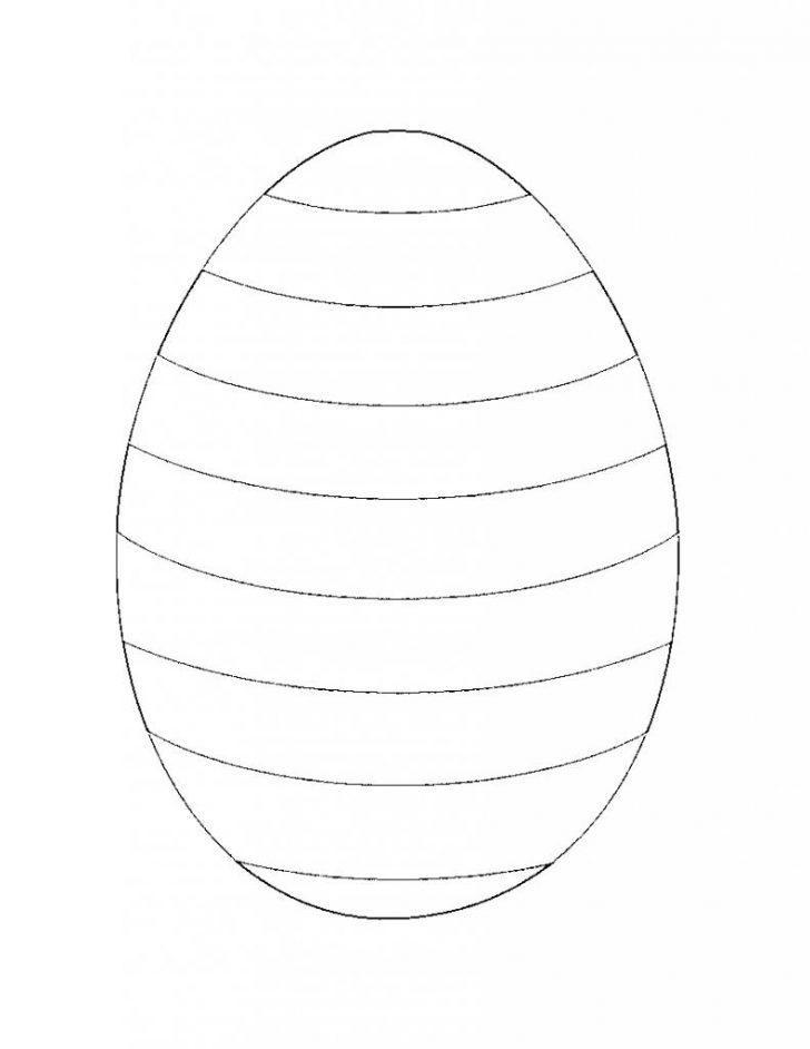 Easter Egg Template Free Printable