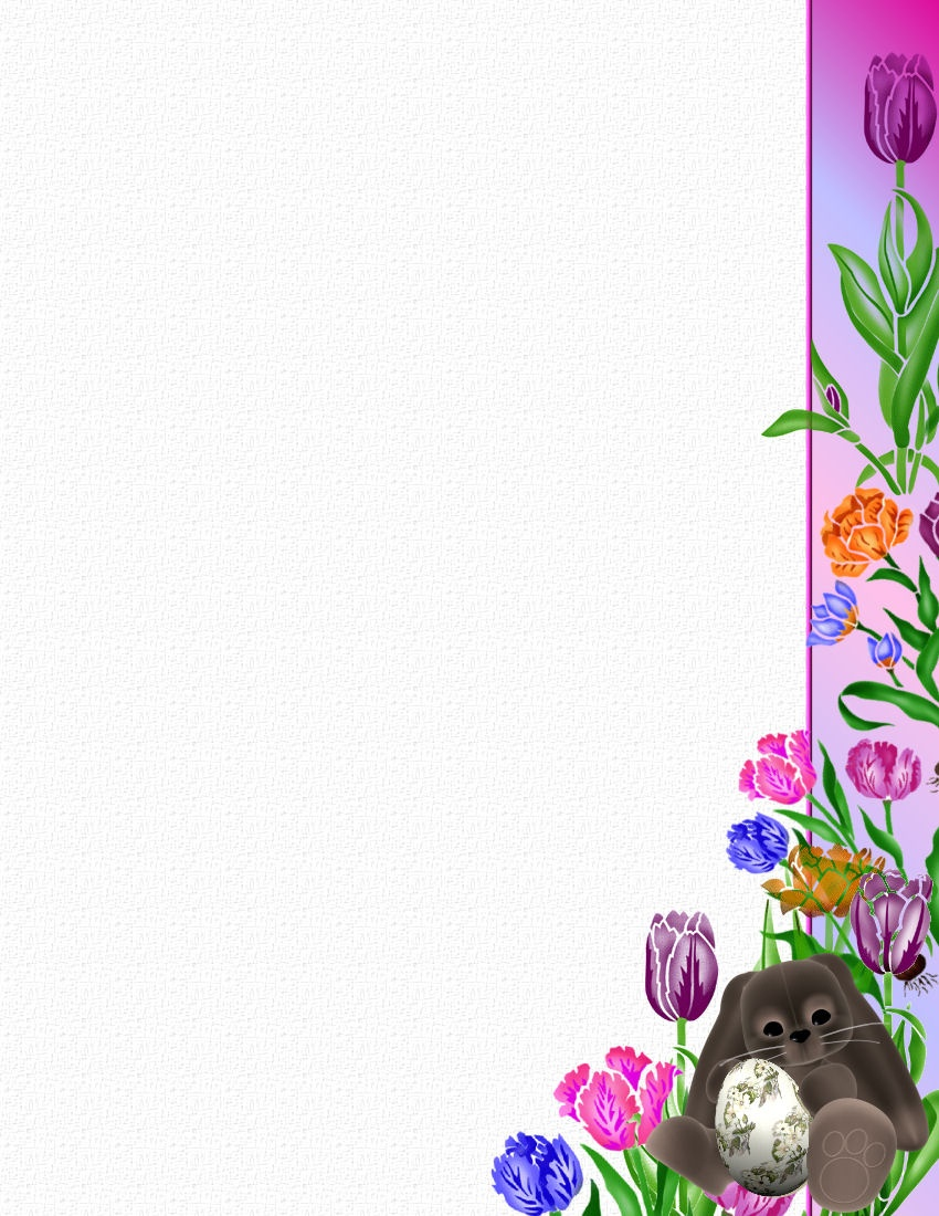 Easter Stationery Theme Free Digital Stationery - Free Printable Easter Stationery