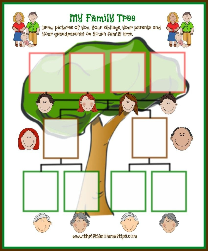 Easy Family Tree Printable For Traditional Families | Curriculum - My Family Tree Free Printable Worksheets