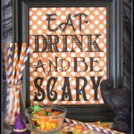 Eat Drink And Be Scary {Free Printable}   Halloween   Halloween - Free Printable Halloween Decorations Scary