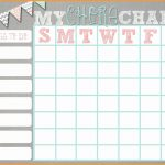 Editable Chore Chart Template Luxury 10 11 Free Editable Printable – Free Editable Printable Chore Charts