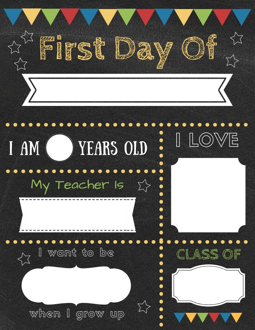 Editable First Day Of School Signs To Edit And Download For Free! - Free Printable First Day Of School Signs 2017