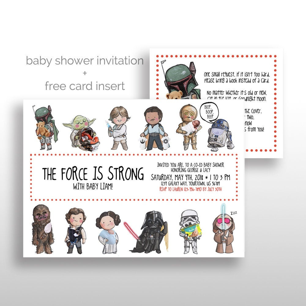 Editable Printable Star Wars Baby Shower Invitations Star | Etsy - Free Printable Star Wars Baby Shower Invites