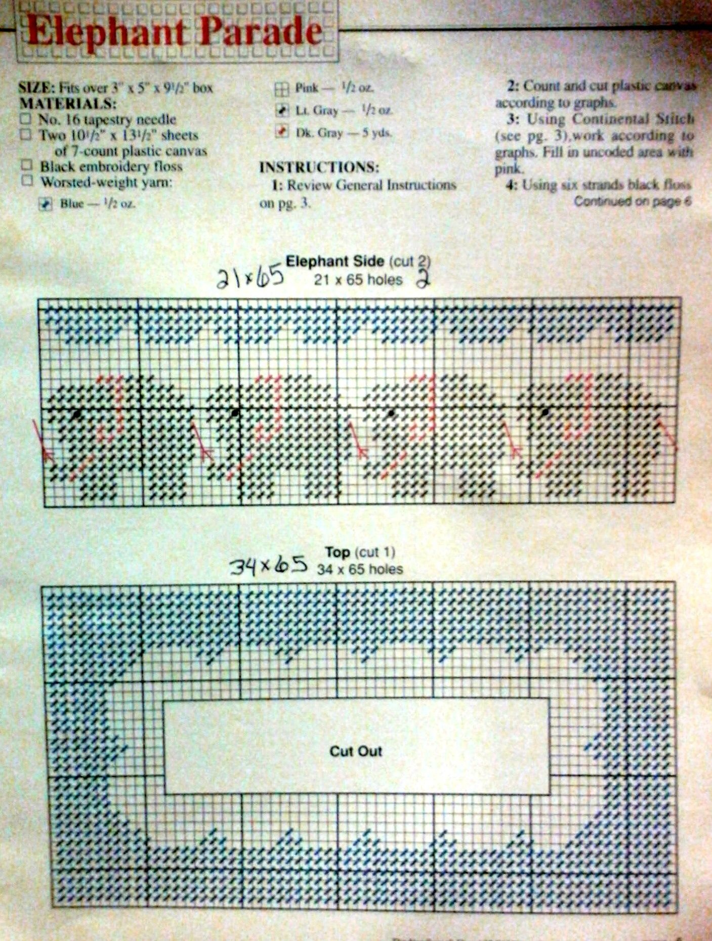 Elephant Tissue Box Pattern Plastic Canvas | Tiss-Tp Holders - Free Printable Plastic Canvas Tissue Box Patterns