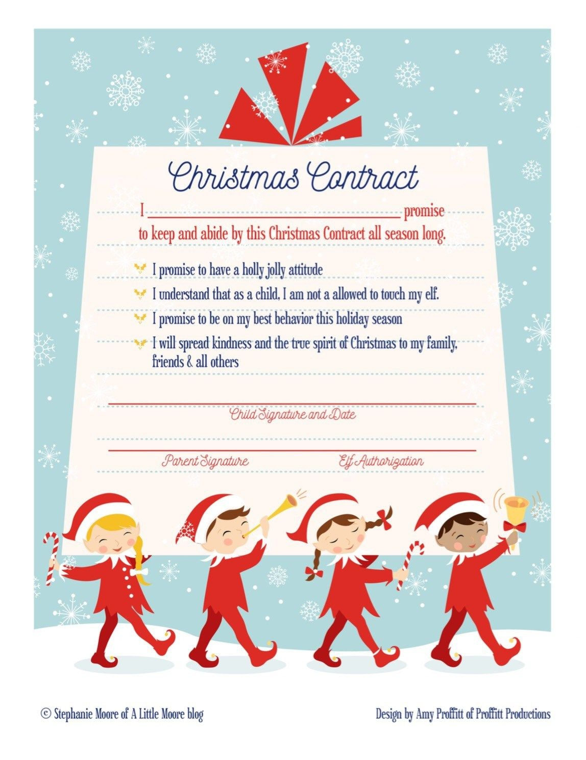 Elf On The Shelf Arrival Christmas Contract | Elf On The Shelf Ideas - Free Printable Elf On Shelf Arrival Letter