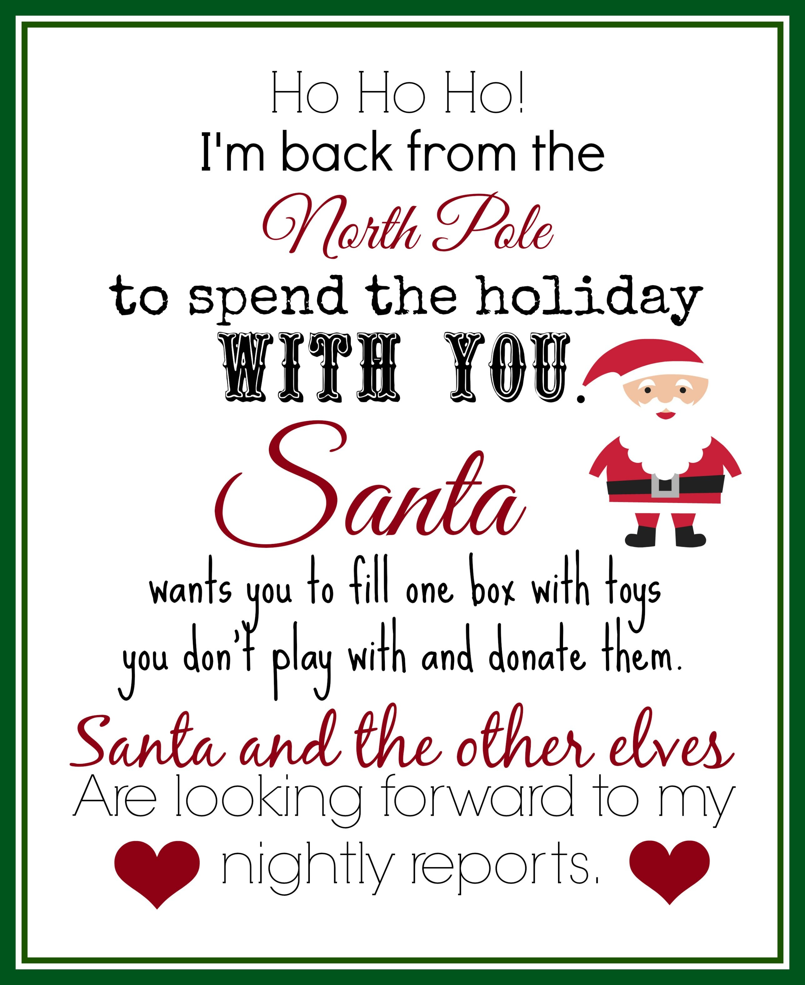Elf On The Shelf Ideas For Arrival: 10 Free Printables | Elf On The - Elf On The Shelf Free Printable Ideas