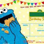 Elmo Sesame Street Birthday Party Invitations   Elijah   Sesame   Free Printable Cookie Monster Birthday Invitations