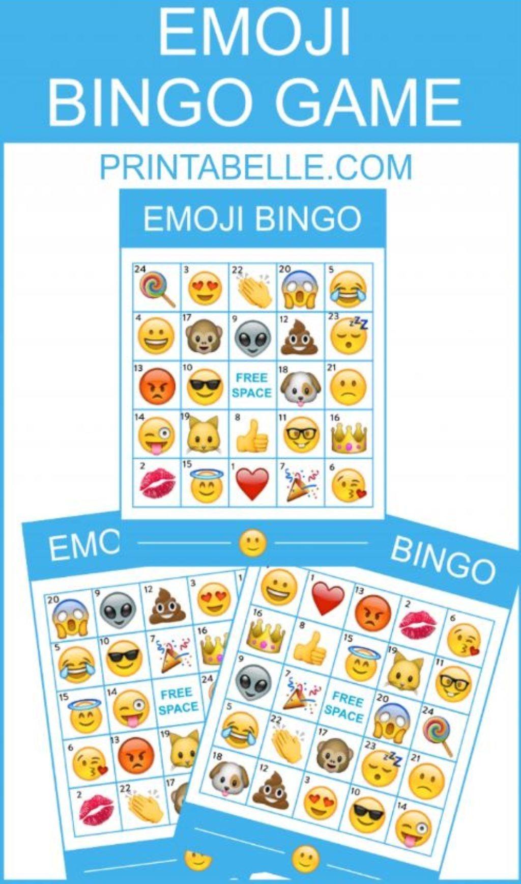 Emoji Bingo Game With Apple Emojis | Free Party Printables And More - Free Emoji Bingo Printable