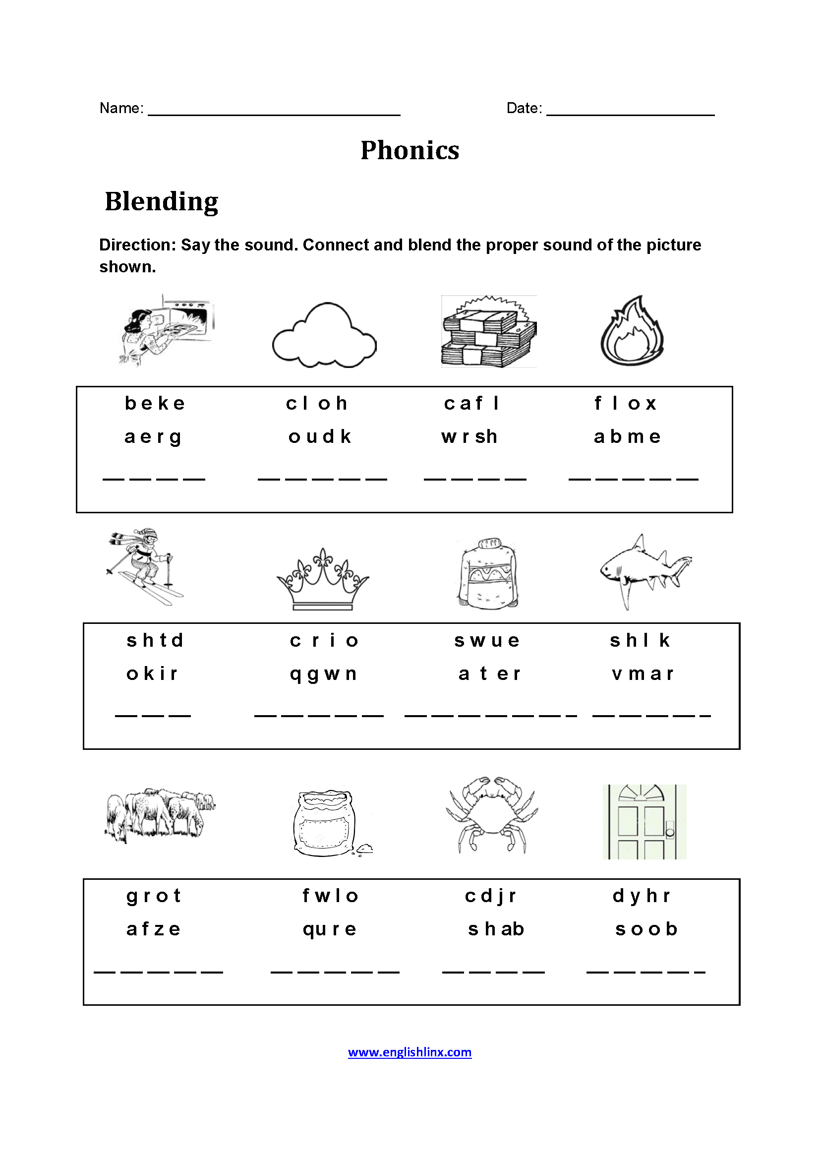 Englishlinx | Phonics Worksheets - Free Printable Phonics Worksheets For 4Th Grade